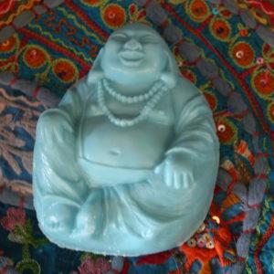 "Throat Chakra ""Positive Energy"" Buddha Goats Milk Soap"